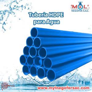 Tubería HDPE para Agua
