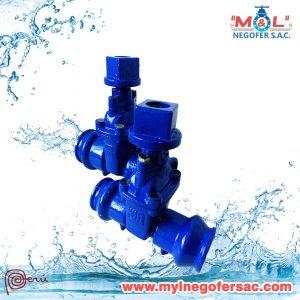 Válvula compuerta ISO para tubo PVC myl